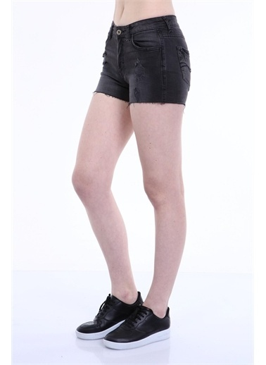 Rodi Jeans Kadın Lazerli Denim Şort TY19YB142166 Gri